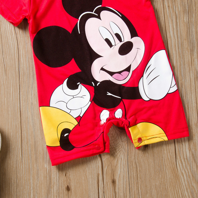 H986f531257254e73ae5c6dc3fcd7665dt Newborn Mickey Baby Rompers Disney Baby Girl Clothes Boy Clothing Roupas Bebe Infant Jumpsuits Outfits Minnie Kids Christmas