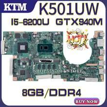K501u для asus k501uq k501ux k501uw материнская плата ноутбука