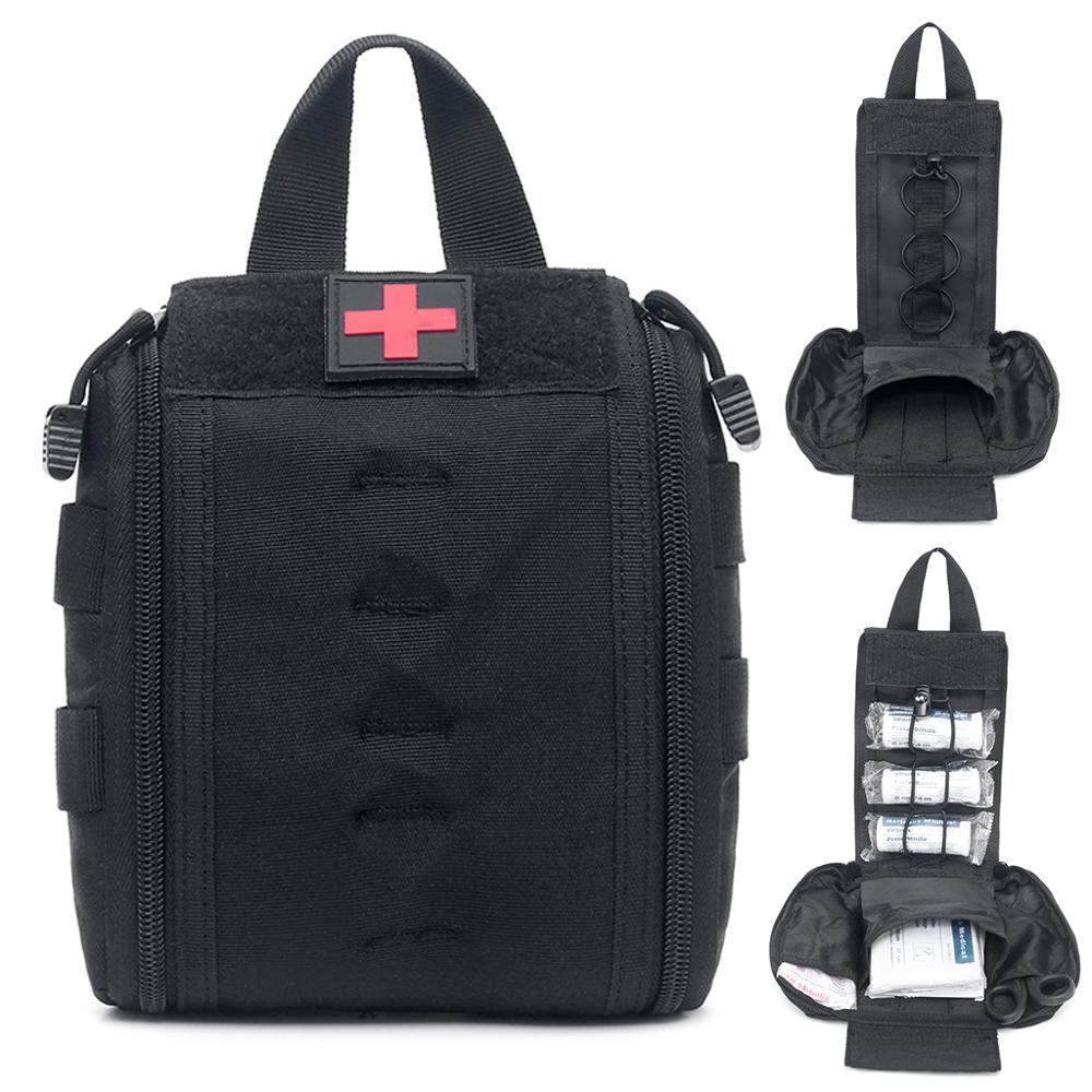 Molle taktik İlk yardım seti yardımcı tıbbi aksesuar çantası bel paketi Survival naylon kılıfı açık Survival avcılık Medic çanta