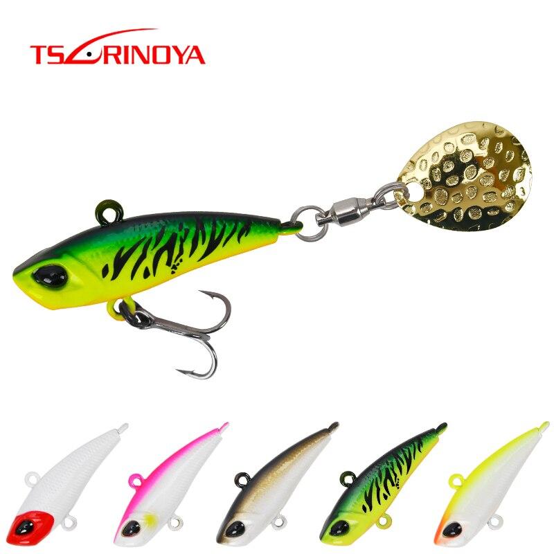 TSURINOYA Spinner VIB Fishing Lure Set SPIN MT 12g 17g Sinking Water Ice Jigging Metal Spoon Vibration Hard Crankbait 5Colors|Fishing Lures|   - AliExpress