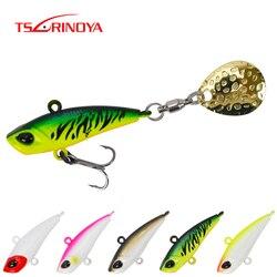 TSURINOYA Спиннер VIB, рыболовная приманка, набор спиннинга MT 12 г 17 г, погружной Подледный джиг, металлическая ложка, Вибрирующая, 5 цветов