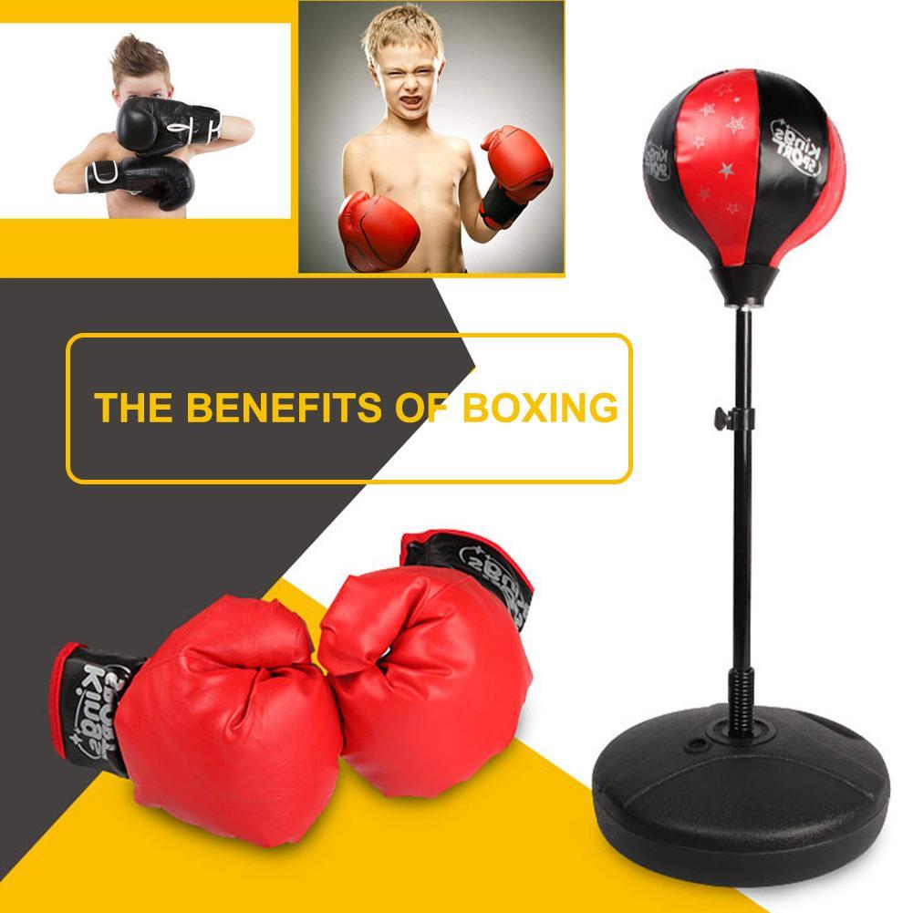 Adjustable Height Kids Boxing Set Training Sport Punching Ball w//Gloves Bag US