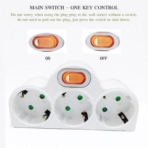 Image 2 - 4.8 Mm Eu Standaard Power Adapter Din Plug 1 Tot 3 Plug 250V Travel Adapter Power Converter Socket