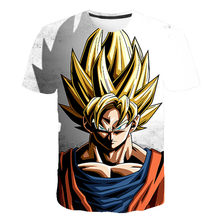 2020 nouveau t-shirt homme été mode Dragon Ball DBZ Bulma Super Saiyan végéta impression 3d enfants Goku t-shirt japon Anime t-shirts(China)