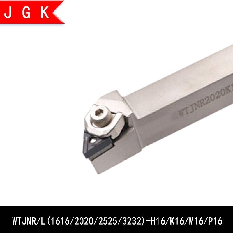 Turning Tool Rod WTJN WTJNR1616 WTJNL1616 H16 WTJNR2020 WTJNL2020 K16 WTJNR2525 WTJNL2525 M16 WTJNR3232 P16 TNMG Triangle Insert
