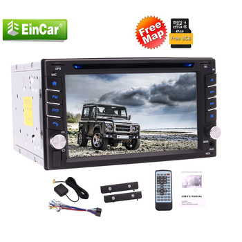 Touch Screen Car Radio Double DIN DVD CD Player 2 Din Stereo System Car Radio Receiver with Bluetooth In Dash Head Unit 1080P image