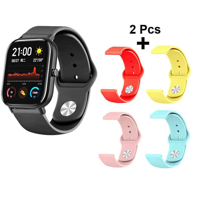 20mm Bracelet Band For Xiaomi Huami Amazfit GTS Watch Strap Amazfit Bip Watchband Amazfit GTR 42mm Wristband Silicone Wrist Belt