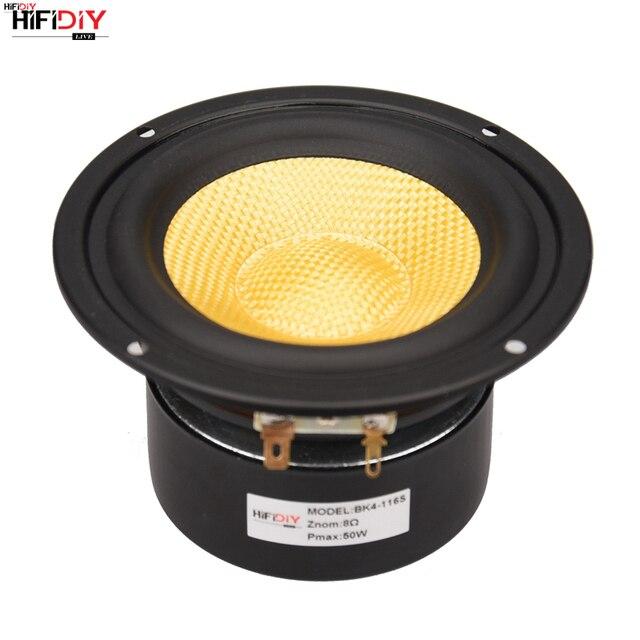 """HIFIDIY لايف HIFI 4 بوصة 4.5 """"Midbass مكبر الصوت وحدة مكبر الصوت 4 / 8 أوم 50 واط الألياف الزجاجية اهتزازي حوض مكبر الصوت BK4 116S"""