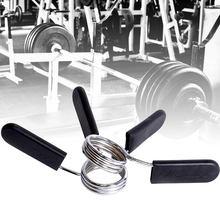 2 pièces 24/25/28mm Spinlock colliers Barbell collier serrure haltères Clips pince barre de levage de poids haltère de gymnastique Fitness musculation