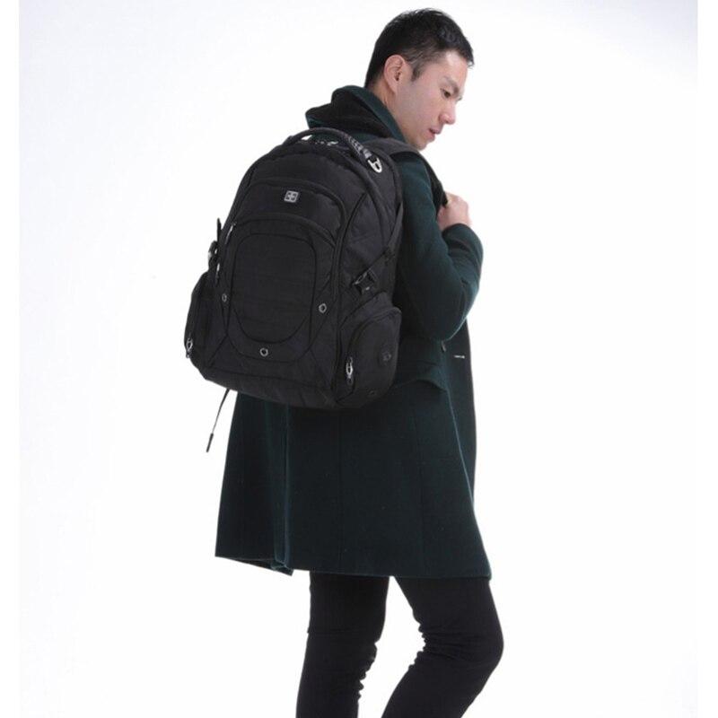 2019 스위스 노트북 가방 브랜드 방수 대용량 나일론 balck 배낭 노트북 bagpack 여행 여성과 남성을위한 sac a dos-에서백팩부터 수화물 & 가방 의  그룹 1