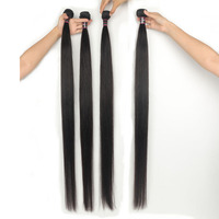 Bouncing Brazilian Remy Hair Straight 4 Bundles Hair Extension 30 32 34 36 38 40 50 Inch Hair Weft For Women Free Shipping