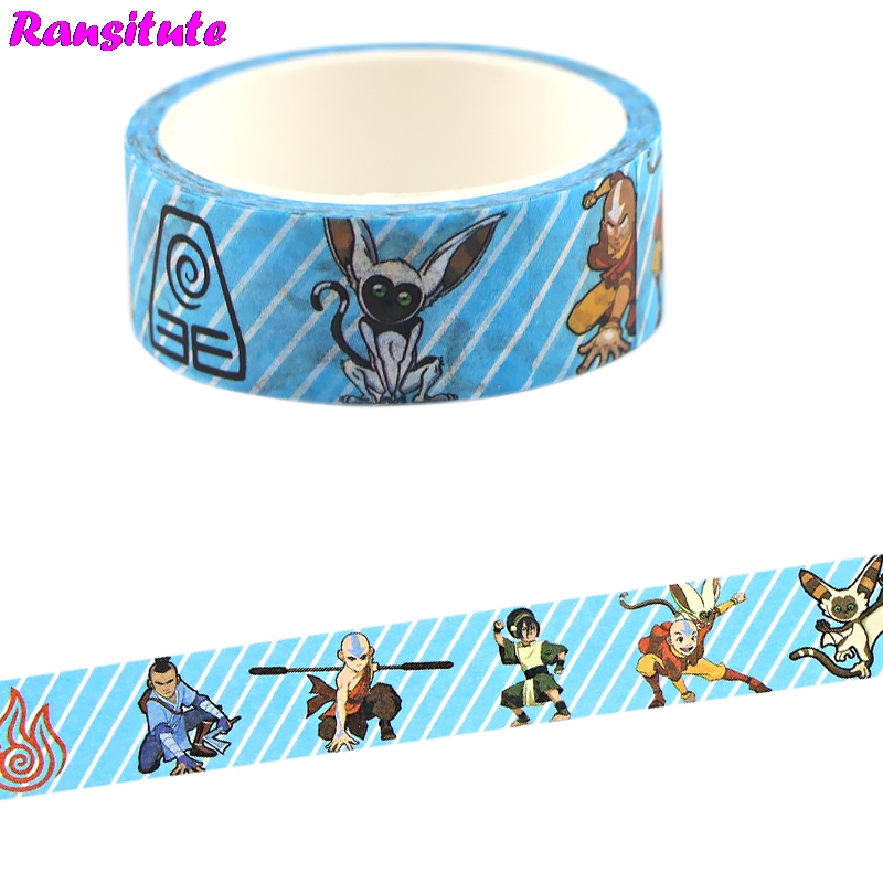 Ransitute Cartoon Cute Washi Tape Traffic Tape Toy Car Decoration Hand Account Sticker Masking Decoration Tool R737