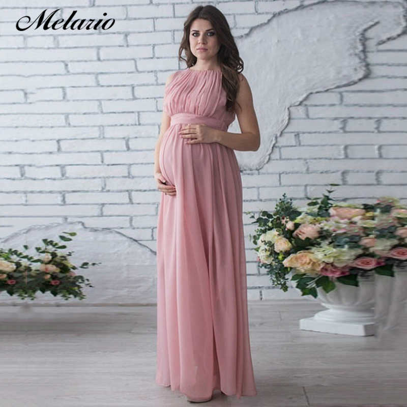 Maternity Dresses Party Women Pregnant Drape Photography