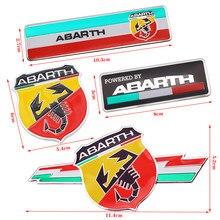 1 pçs estilo do carro 3d metal itália abarth escorpião adesivo emblema emblema adesivo para fiat viaggio abarth punto 124 125 500