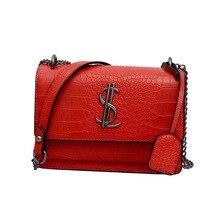 Luxury Handbags Women Bags Designer Alligator Small Square Crossbody Bags For Women 2019 Retro Female Shoulder Messenger Bags