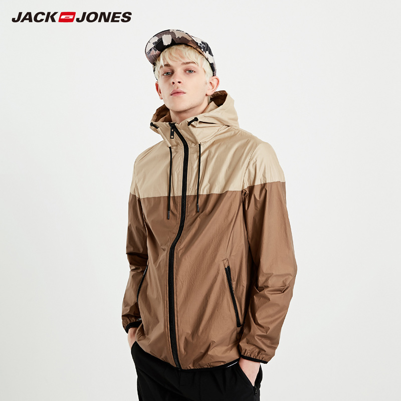 JackJones Men's Casual Light-weight Waterproof Sports Jacket Menswear| 219121523