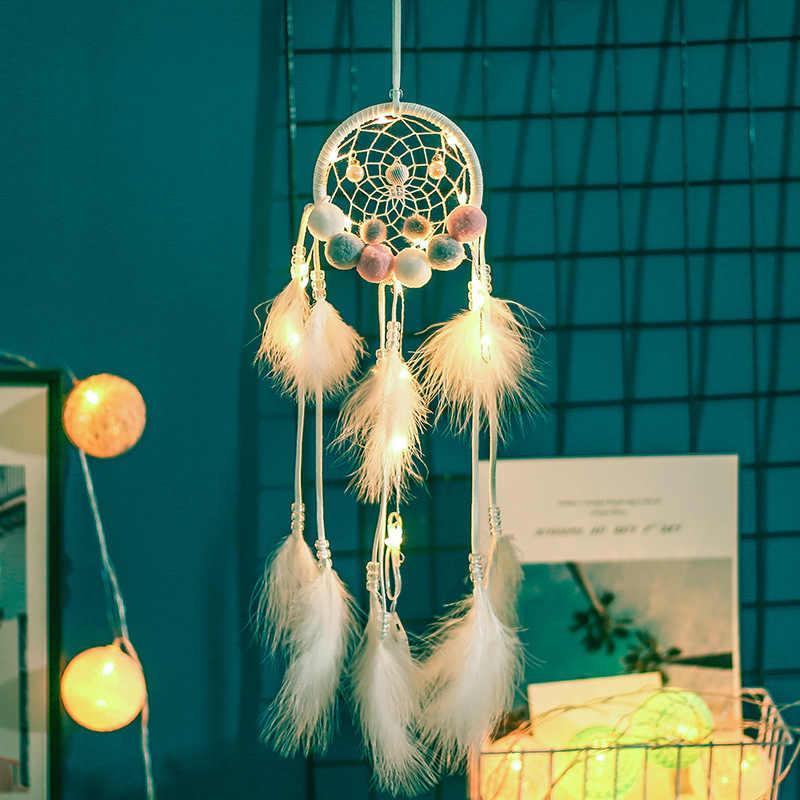 Nowe produkty pluszowa piłka mała lampka nocna Dreamcatcher miękkie dziewczyna dekoracja pokoju powietrza oświetlenie wiszące dekoracji prezent urodzinowy XR