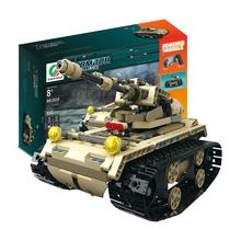 MoFun-13010/13011 2.4G 4H USB Charging Building Block Simulated Heavy Track Tank 497pcs DIY Electric RC Tank Model For Children(China)