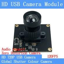 HD 120FPS MJPEG USB מצלמה מודול ללא עיוות צבע הגלובלית תריס במהירות גבוהה OTG Windows אנדרואיד לינוקס UVC 720P USB Webcam