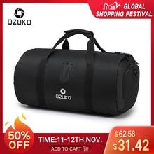 OZUKO 다기능 대용량 남성 여행 가방 방수 더플 백 여행 슈트 스토리지 핸드 수하물 가방 구두 주머니와 함께