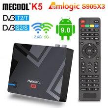 Najnowszy MECOOL K5 2G 16G Smart Tv Box Android 9 9.0 Amlogic S905X3 2.4G 5G WIFI LAN 10/100M odtwarzacz multimedialny PVR nagrywanie TV BOX
