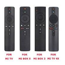 Mando a distancia con Bluetooth para Xiaomi Mi TV, decodificador S, Box 3, MI TV 4X, Control remoto por voz con asistente de Google