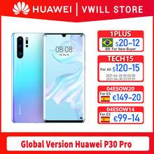 Versão global huawei p30 pro mobilephone 6.47 polegada kirin 980 octa núcleo 8gb 256gb in-screen 40mp 4200mah nfc 40w supercharge