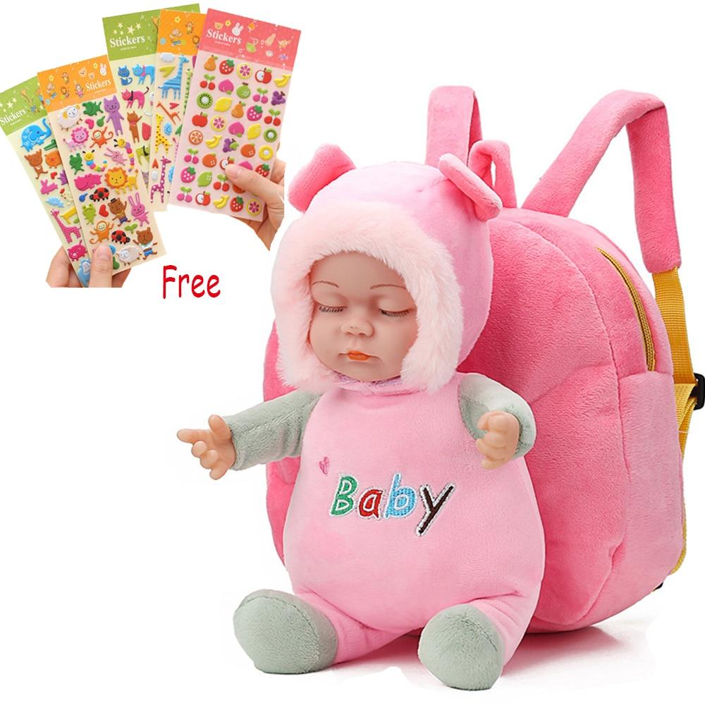 Plush Anime Backpack For Kids Bebe Mini Reborn Babies Doll Toddler Stuffed Toy Kindergarten Children Soft School Bag Buy 1 Get 5