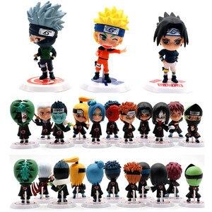 6/11pcs/set Anime Naruto Action Figure Toys 7cm Zabuza Haku Kakashi Sasuke Ninja PVC Model Doll Collection Kids Home Decor Toy(China)