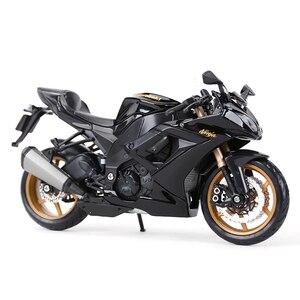 Image 5 - Maisto 1:12 kawasaki ninja ZX 10R preto morrer cast veículos colecionáveis hobbies motocicleta modelo brinquedos