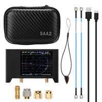 Analizador de red de Vector 3G, S-A-A-2 NanoVNA V2 2,8 pulgadas, Analizador de antena de pantalla de onda corta HF VHF UHF con carcasa de hierro