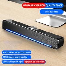 2020 TV Sound Bar USB Wired And Wireless Bluetooth Home Theater Surround Sound Loudspeaker PC Speaker Computer Soundbar