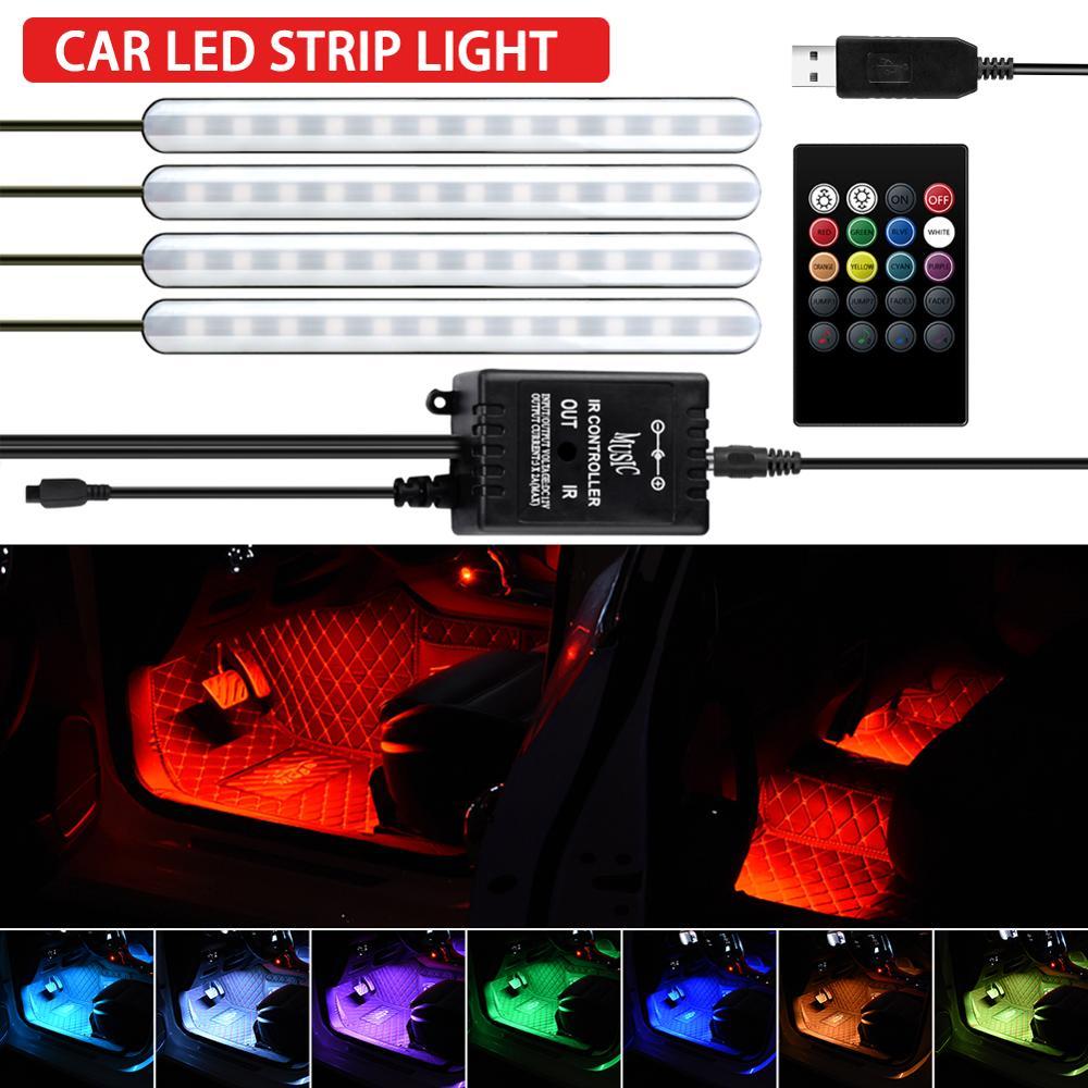 Купить светодиодный светильник для ног автомобиля лампа с usb беспроводное