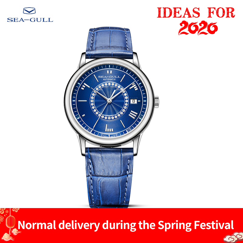 Seagull Watch Male Waterproof Steel Belt Mechanical Watch Business Casual Calendar Automatic Mechanical Watch 819.37.6039L