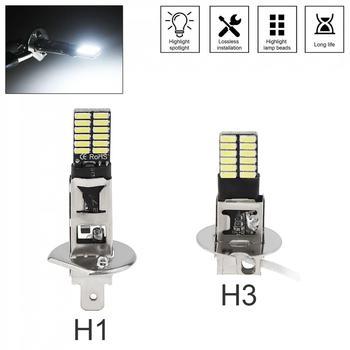 2 sztuk H1 H3 Canbus Super jasne LED żarówki światło przeciwmgielne samochodu reflektorów 4014 24SMD 12V 6000K światła do jazdy dziennej Auto lampa motocyklowa tanie i dobre opinie movflax 12 V CN (pochodzenie) CLB_317 6500K H1 H3