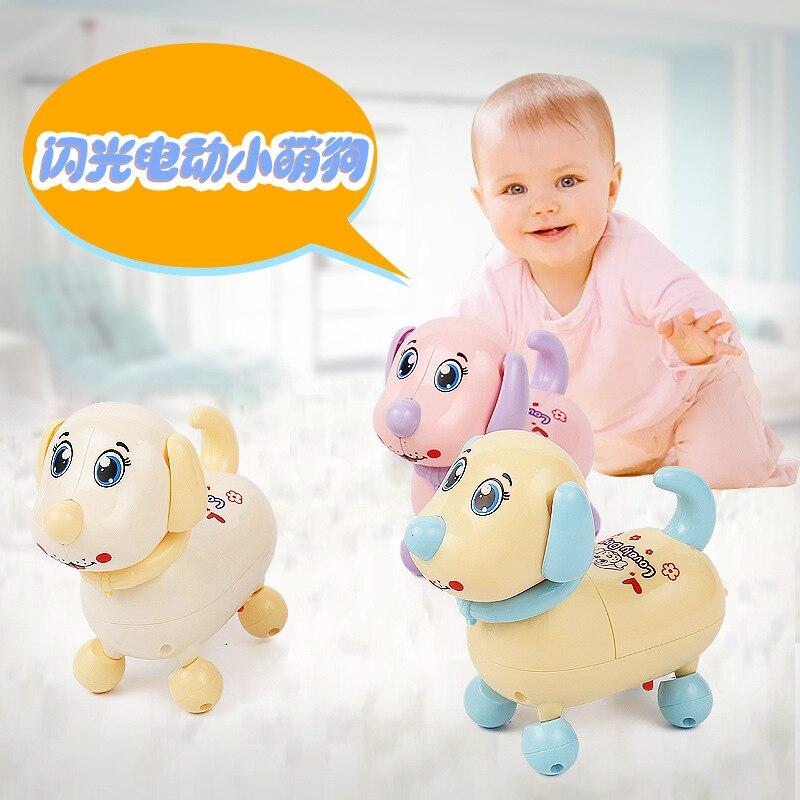Zhi En Bao Flash Electric Q Adorable Dog Educational Toy Random Color Hair