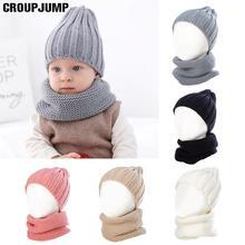 Детский набор из шапки и шарфа осенне-зимние; вязанные; шерстяные по фигуре, раздел-верхняя детская одежда головным убором детская шапка и шарф для девочек детская шапка 0-3 лет