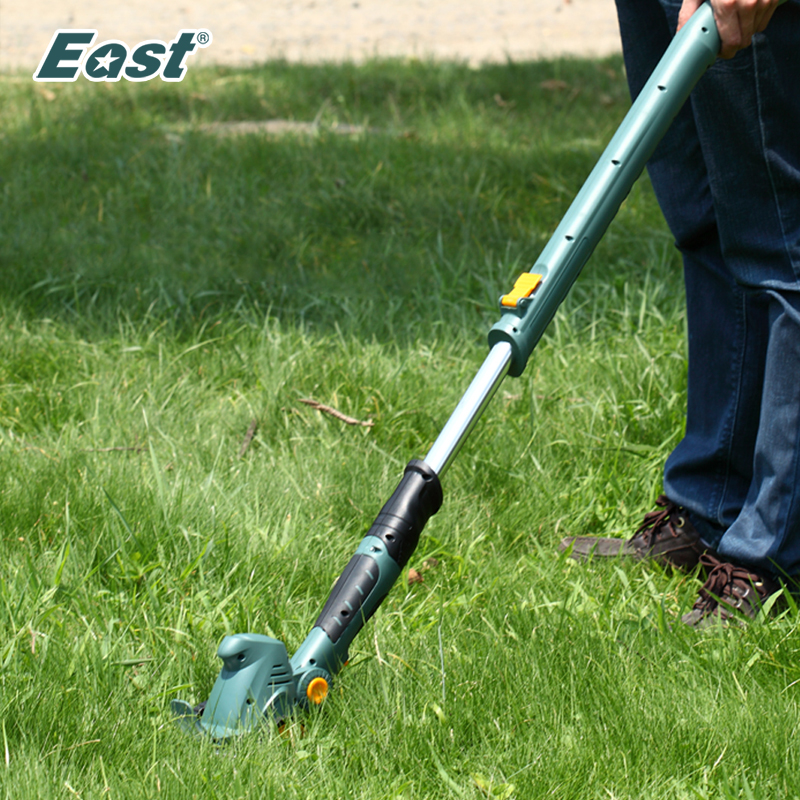 East 10.8V Rechargeable battery Cordless Hedge Trimmer Grass Trimmer Lawn Mower Garden Power Tools ET1007 2 in 1