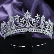 Classic Cubic Zirconia Wedding Bridal Tiaras Engagement Crowns CZ Party Prom Hair Jewelry Accessories Headpieces Gift for Women luxury classic cz cubic zirconia wedding bridal tiara crown diadem women hair jewelry accessories s17802