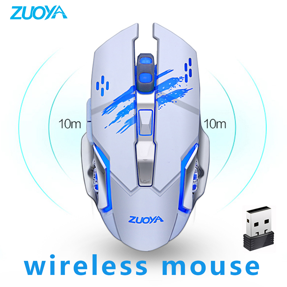 Rechargeable Wireless Silent Gaming Mouse Computer Mute Mice 2.4 GHZ DPI  Power Saving Optical USB For Laptop PC Gamer