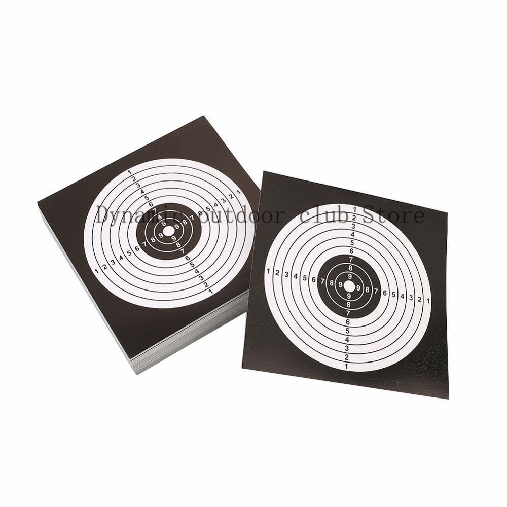Totrait 100 sztuk/paczka 14x14cm strzelanie cele papierowa naklejka czarny biały top Quality karabin pneumatyczny pistolet strzelanie cele Paintball A