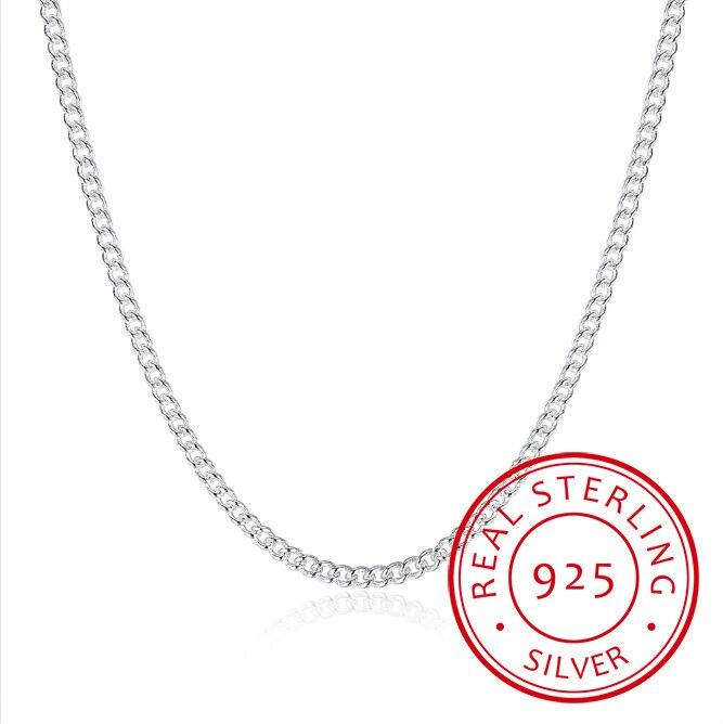 Women's 2mm Side Chain 925 Sterling Silver 16