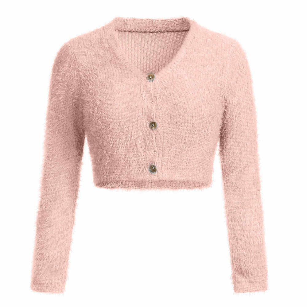 Women Fashion V-neck Tops 2018 Newest Women's Winter Long Sleeve Sweater Autumn Jumper Tops Blouse Women Clothes