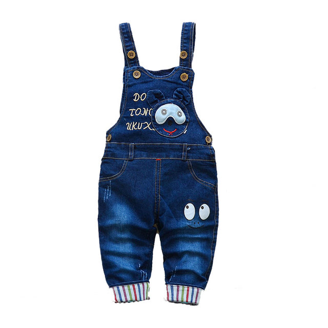 Children's Denim Overalls Baby Jeans Pants Baby Boys Girls Trousers Infant Clothing Toddler Babies Pants Little Kids 1-3 Years 1