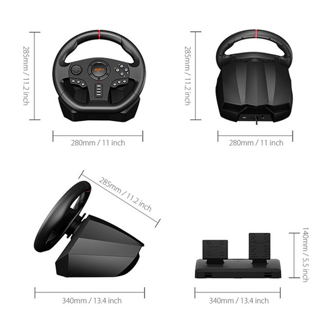 PXN V900 Game Steering Wheel for PS3 PS4 NS Switch Gaming Controller for  PC USB Vibration Dual Motor with Foldable Peda 5