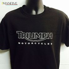Triumph Motorcycles T-shirt men black tshirt summer fashion male tee-shirt cotton tops drop shipping