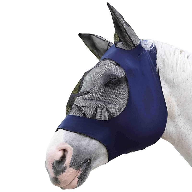 Mesh Horse Anti-Mosquito Mask Cover Summer Breathable Comfortable Anti Fly Mesh Mask For Horse Farm Animal SuppliesNew Qgnv