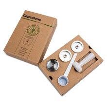 Cápsula de metal recarregável e compatível com illy, cápsula para cafeteira, máquina de café, inoxidável, reutilizável