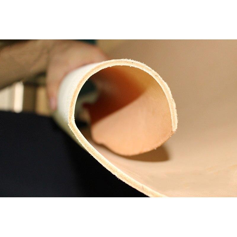 Grão cheia vegetal curtido trabalho feito com ferramentas couro genuíno artesanato cor bege natural 3 thickness 4.0mm espessura diy