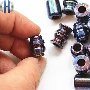 Image 5 - Titanium Mascus EDC Umbrella Rope Pendant Titanium Saber DIY Jewelry Bracelet Zipper Pendant